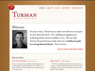 Turman Financial Group website design