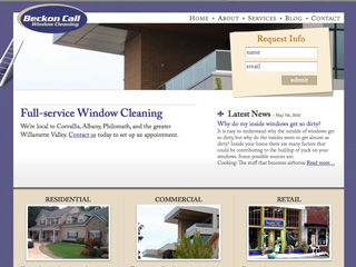 Beckon Call Window Cleaning website redesign