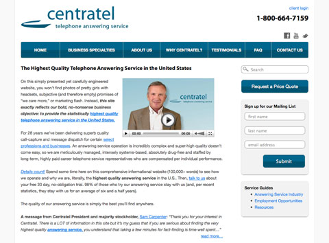 Website Redesign for Centratel